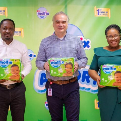 From Left to Right:  Sales Director, Motayo Latunji, Managing Director, Doruk Emiroglu, and Marketing Manager, Roseline Abaraonye at the internal launch of Molfix Air Dry